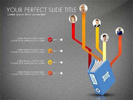 Ledger Book Concept, Slide 9, 02864, Stage Diagrams — PoweredTemplate.com