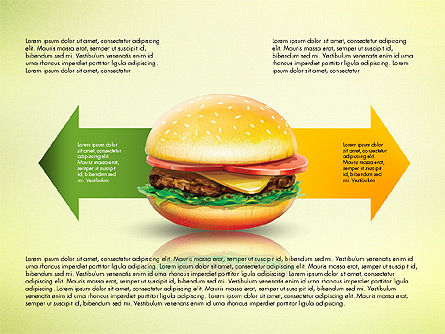 Hamburger Infographics, 02865, Infographics — PoweredTemplate.com