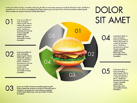 Hamburger Infographics, Slide 2, 02865, Infographics — PoweredTemplate.com