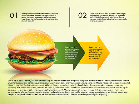 Hamburger Infographics, Slide 3, 02865, Infographics — PoweredTemplate.com