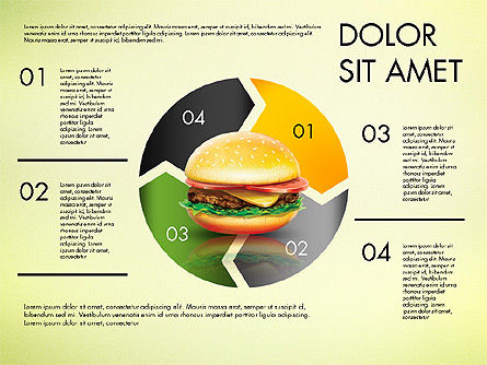 Hamburger Infographics, Slide 4, 02865, Infographics — PoweredTemplate.com
