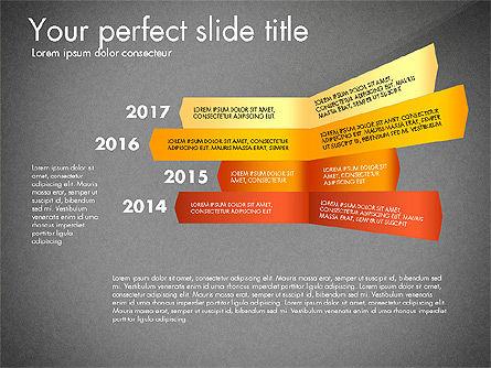 Timeline Options Concept, Slide 13, 02866, Stage Diagrams — PoweredTemplate.com