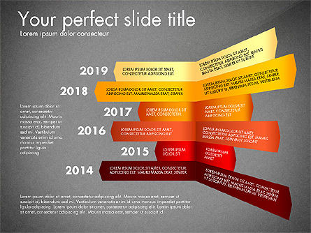 Timeline Options Concept, Slide 15, 02866, Stage Diagrams — PoweredTemplate.com