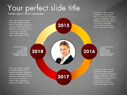 Timeline Options Concept, Slide 16, 02866, Stage Diagrams — PoweredTemplate.com