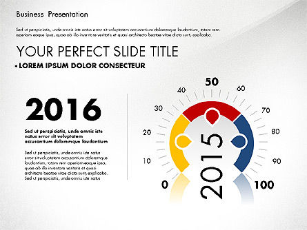 Presentation Templates: Business Presentation with Flat Designed Charts #02868