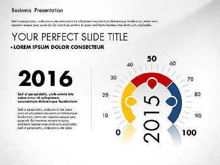 Presentation Templates: Presentasi Bisnis Dengan Grafik Yang Dirancang Rata #02868