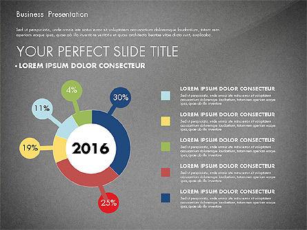 Business Presentation with Flat Designed Charts, Slide 10, 02868, Presentation Templates — PoweredTemplate.com