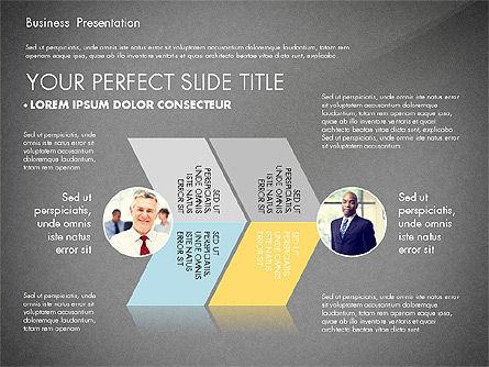 Business Presentation with Flat Designed Charts, Slide 11, 02868, Presentation Templates — PoweredTemplate.com