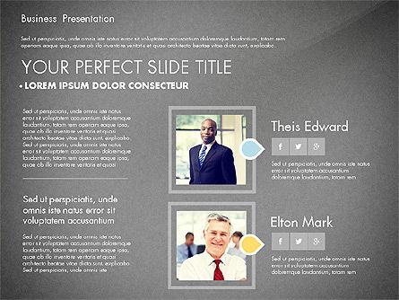 Business Presentation with Flat Designed Charts, Slide 12, 02868, Presentation Templates — PoweredTemplate.com