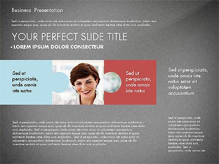 Business Presentation with Flat Designed Charts, Slide 13, 02868, Presentation Templates — PoweredTemplate.com