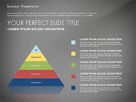 Business Presentation with Flat Designed Charts, Slide 14, 02868, Presentation Templates — PoweredTemplate.com
