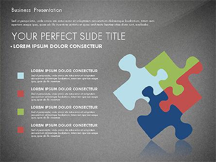 Business Presentation with Flat Designed Charts, Slide 15, 02868, Presentation Templates — PoweredTemplate.com