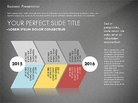 Business Presentation with Flat Designed Charts, Slide 16, 02868, Presentation Templates — PoweredTemplate.com