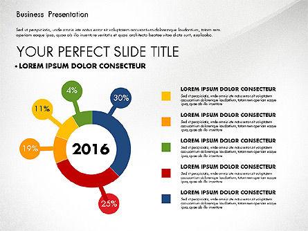 Business Presentation with Flat Designed Charts, Slide 2, 02868, Presentation Templates — PoweredTemplate.com