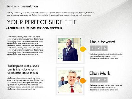 Business Presentation with Flat Designed Charts, Slide 4, 02868, Presentation Templates — PoweredTemplate.com