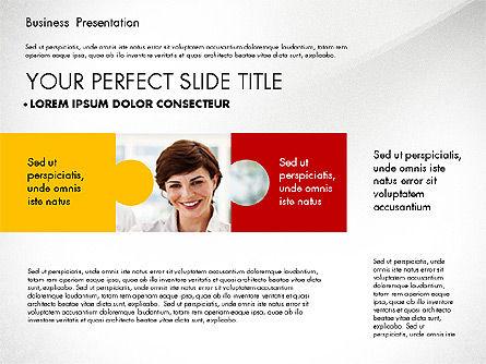 Business Presentation with Flat Designed Charts, Slide 5, 02868, Presentation Templates — PoweredTemplate.com