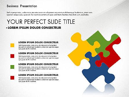 Business Presentation with Flat Designed Charts, Slide 7, 02868, Presentation Templates — PoweredTemplate.com