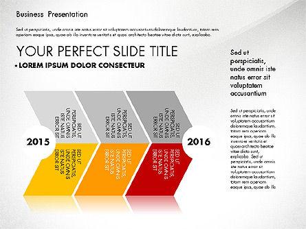 Business Presentation with Flat Designed Charts, Slide 8, 02868, Presentation Templates — PoweredTemplate.com