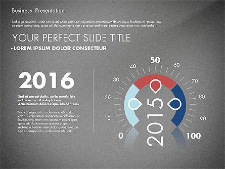 Business Presentation with Flat Designed Charts, Slide 9, 02868, Presentation Templates — PoweredTemplate.com