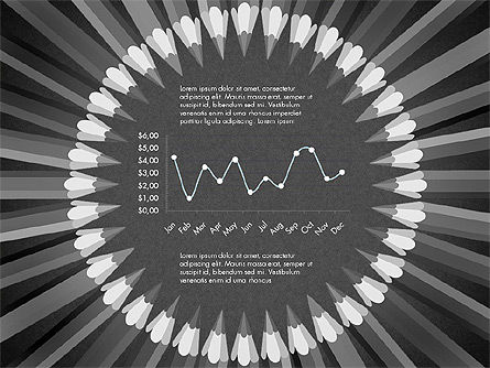 Pencils Arranged in Circle Data Driven Presentation Template, Slide 11, 02875, Data Driven Diagrams and Charts — PoweredTemplate.com