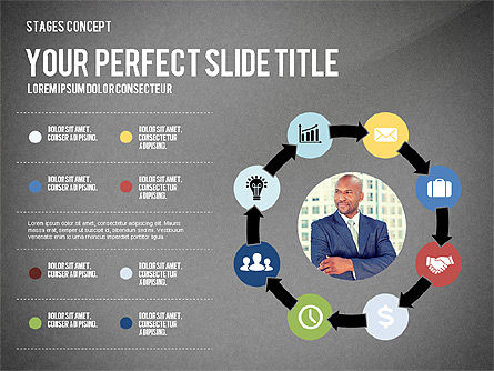 Presentation Template Stages, Slide 12, 02877, Stage Diagrams — PoweredTemplate.com