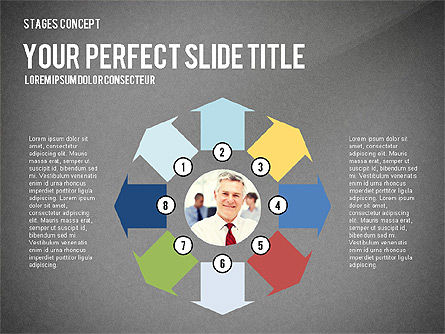 Presentation Template Stages, Slide 13, 02877, Stage Diagrams — PoweredTemplate.com