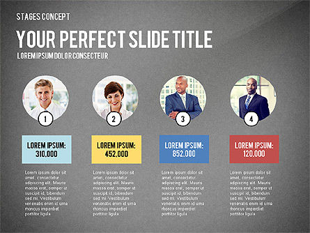 Presentation Template Stages, Slide 14, 02877, Stage Diagrams — PoweredTemplate.com