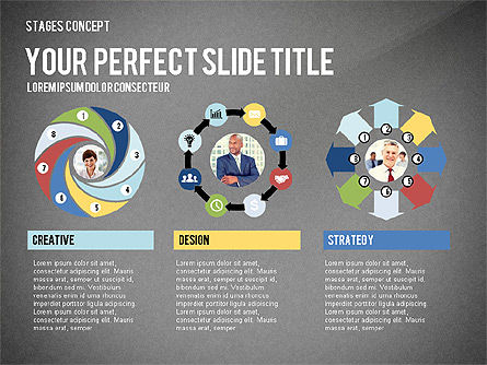 Presentation Template Stages, Slide 16, 02877, Stage Diagrams — PoweredTemplate.com