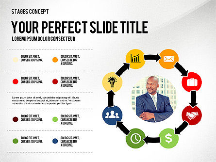 Presentation Template Stages, Slide 4, 02877, Stage Diagrams — PoweredTemplate.com