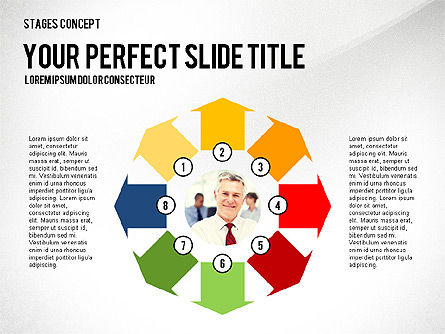 Presentation Template Stages, Slide 5, 02877, Stage Diagrams — PoweredTemplate.com