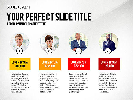 Presentation Template Stages, Slide 6, 02877, Stage Diagrams — PoweredTemplate.com