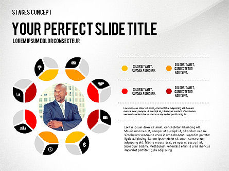 Presentation Template Stages, Slide 7, 02877, Stage Diagrams — PoweredTemplate.com