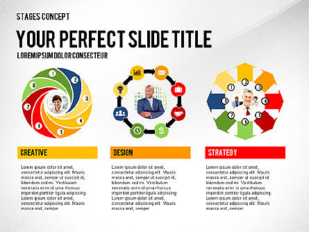 Presentation Template Stages, Slide 8, 02877, Stage Diagrams — PoweredTemplate.com