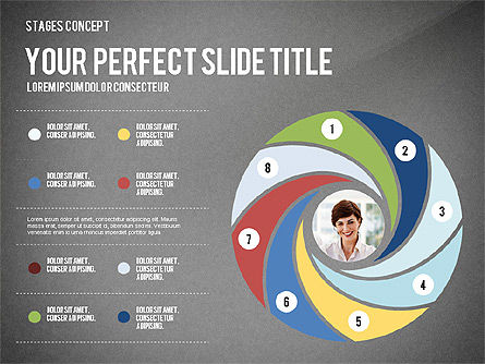 Presentation Template Stages, Slide 9, 02877, Stage Diagrams — PoweredTemplate.com