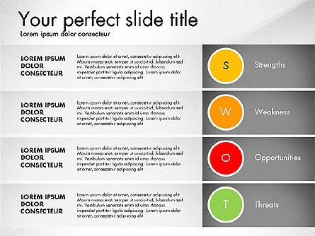 SWOT Presentation Template, Slide 2, 02879, Business Models — PoweredTemplate.com