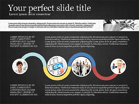 Visual Presentation Template, Slide 14, 02881, Presentation Templates — PoweredTemplate.com