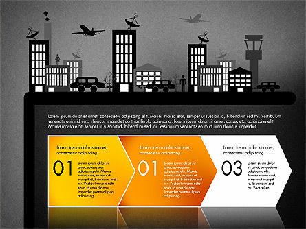 Presentation with Airport Silhouette, Slide 12, 02890, Presentation Templates — PoweredTemplate.com