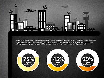 Presentation with Airport Silhouette, Slide 13, 02890, Presentation Templates — PoweredTemplate.com