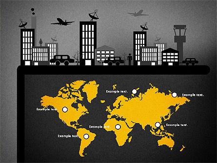 Presentation with Airport Silhouette, Slide 15, 02890, Presentation Templates — PoweredTemplate.com