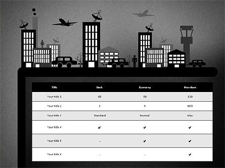 Presentation with Airport Silhouette, Slide 16, 02890, Presentation Templates — PoweredTemplate.com