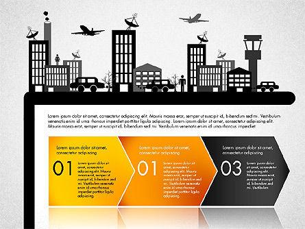 Presentation with Airport Silhouette, Slide 4, 02890, Presentation Templates — PoweredTemplate.com