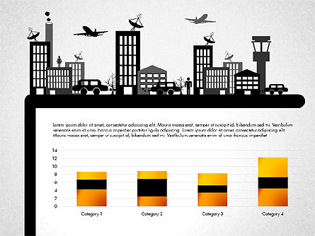Presentation with Airport Silhouette, Slide 6, 02890, Presentation Templates — PoweredTemplate.com
