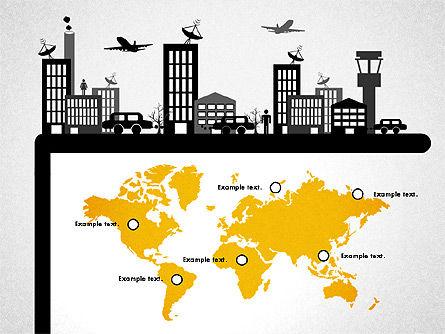 Presentation with Airport Silhouette, Slide 7, 02890, Presentation Templates — PoweredTemplate.com