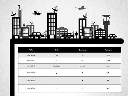 Presentation with Airport Silhouette, Slide 8, 02890, Presentation Templates — PoweredTemplate.com