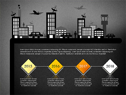 Presentation with Airport Silhouette, Slide 9, 02890, Presentation Templates — PoweredTemplate.com