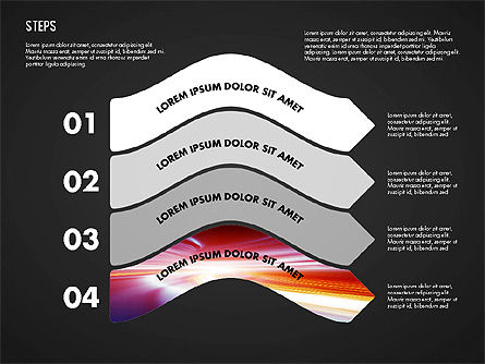 Steps Diagram Toolbox, Slide 11, 02891, Stage Diagrams — PoweredTemplate.com