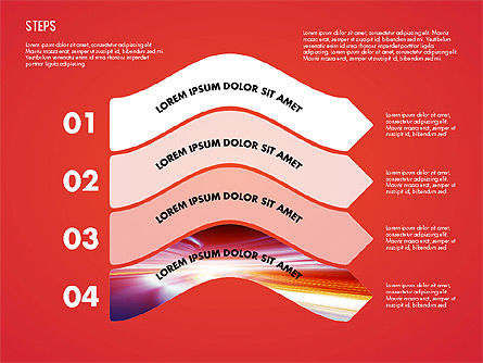 Steps Diagram Toolbox, Slide 3, 02891, Stage Diagrams — PoweredTemplate.com