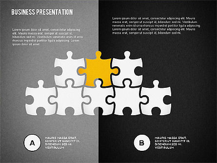 Puzzle Shapes and Silhouettes, Slide 15, 02894, Puzzle Diagrams — PoweredTemplate.com