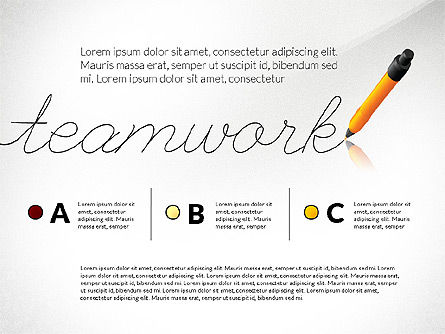 Teamwork Presentation Concept in Sketch Style, 02895, Presentation Templates — PoweredTemplate.com