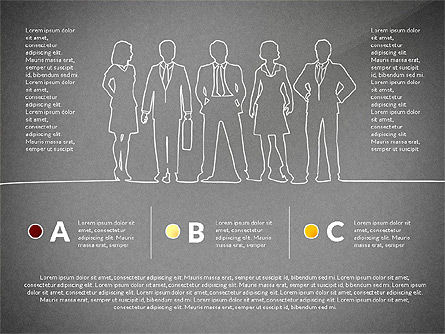 Teamwork Presentation Concept in Sketch Style, Slide 14, 02895, Presentation Templates — PoweredTemplate.com